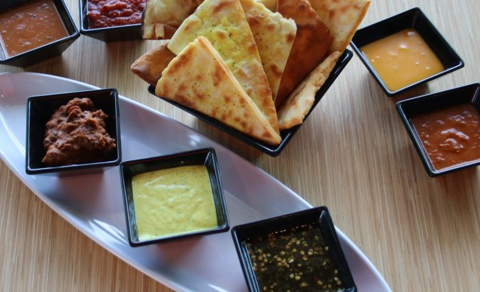 Naan chips and dip Yelp